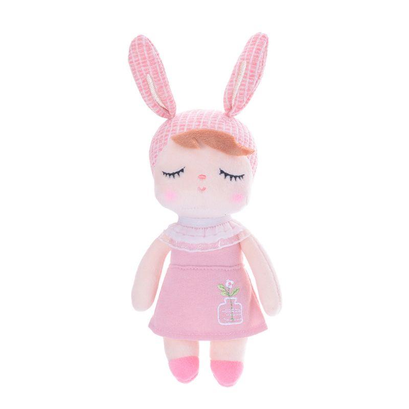 Mini Doll Angela Jardineira Salmão 21cm - Metoo