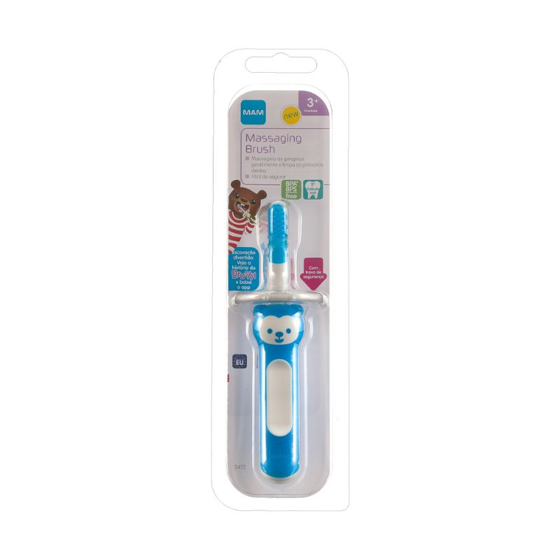 Mordedor Massaging Brush Azul 3m+ - MAM