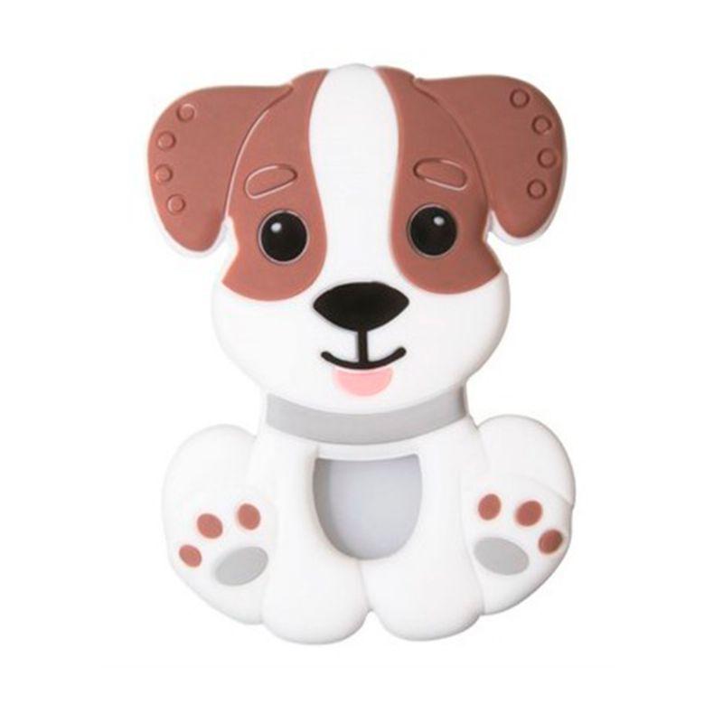 Mordedor Silicone Cachorro Marrom - Girotondo Baby