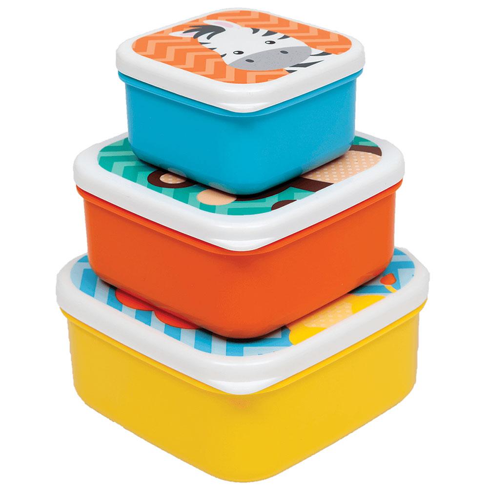 Potinhos para Lanche Kit com 3 unidades Animal Fun - Buba