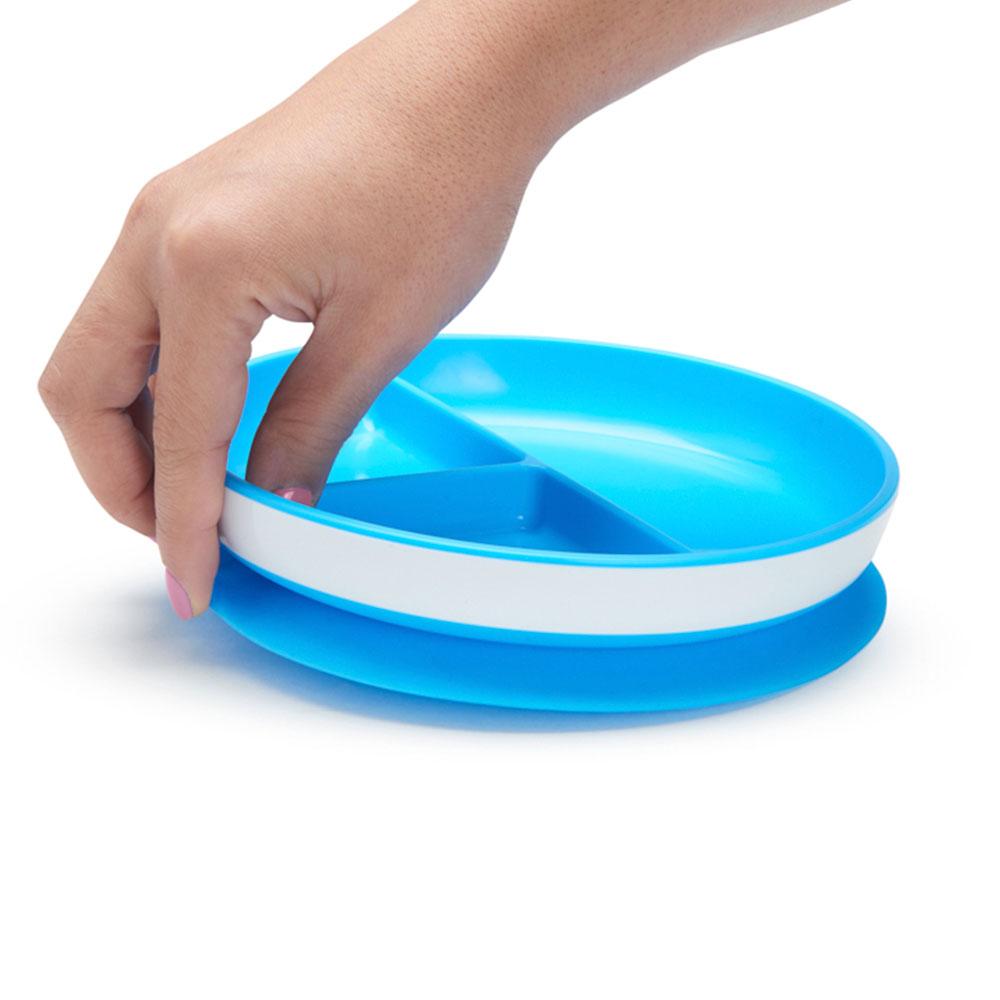 Prato com Divisórias e Ventosa Azul - Munchkin