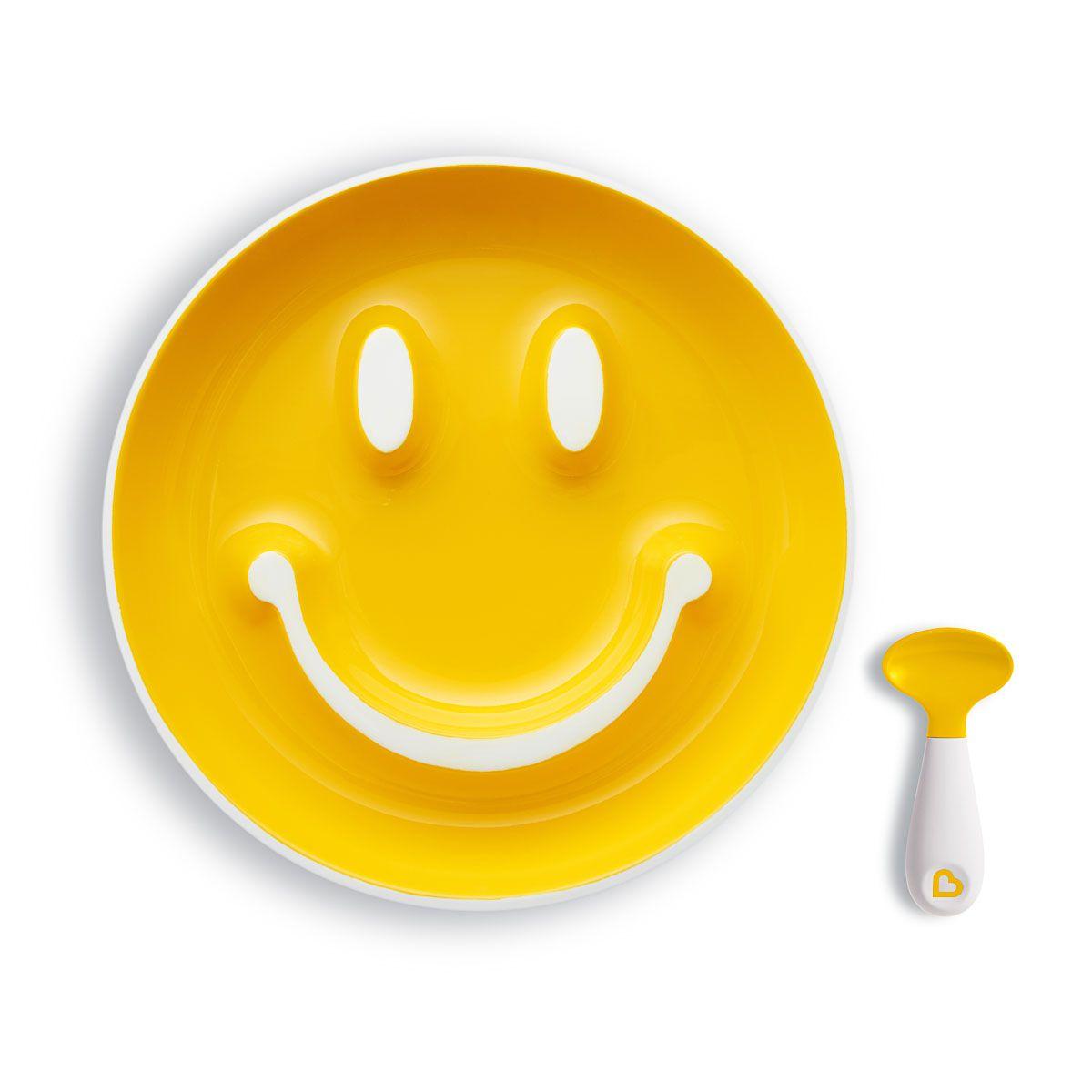 Prato Smile com Ventosa Amarelo - Munchkin