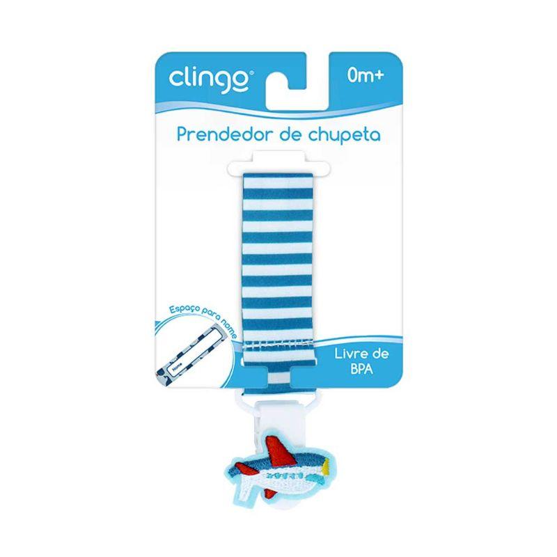 Prendedor de Chupeta Avião - Clingo