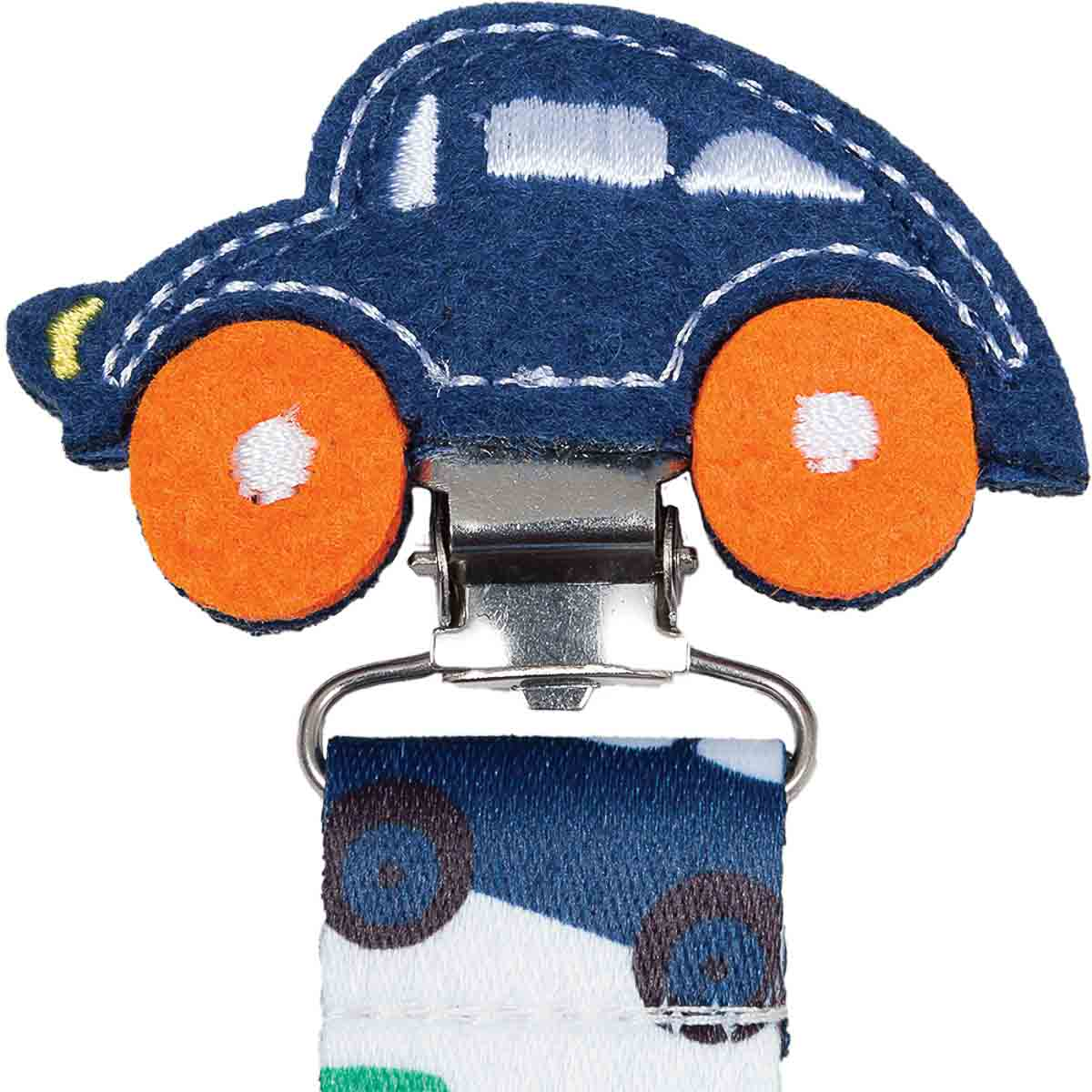 Prendedor de Chupeta Clip Metálico Carrinho - Buba