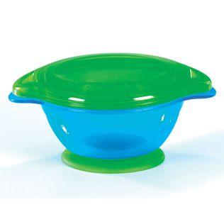 Tigela com Ventosa Click Lock Azul / Verde - Munchkin