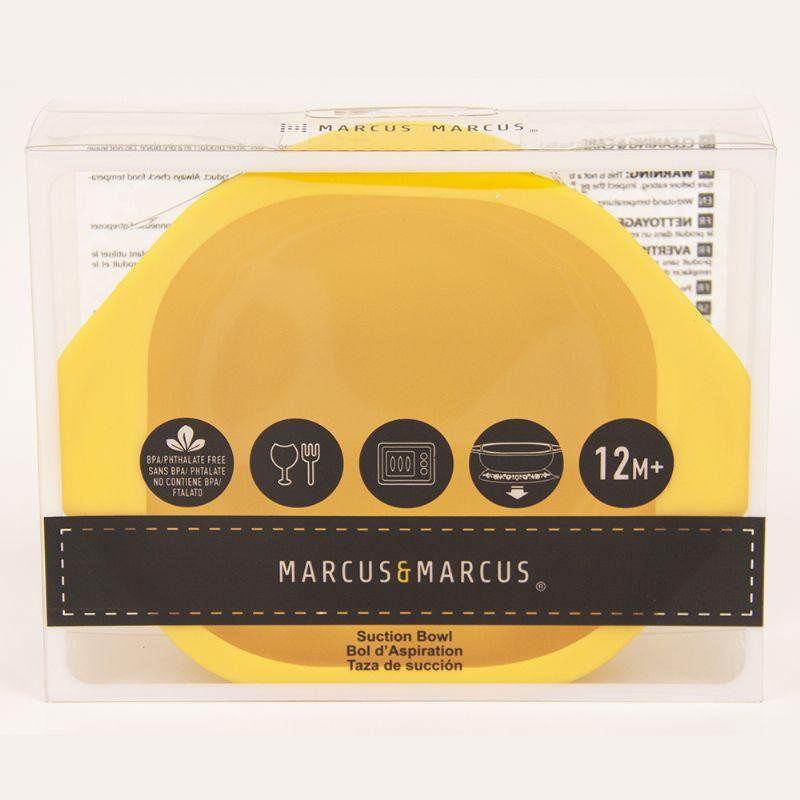 Tigela Silicone com Ventosa Amarelo Girafa - Marcus e Marcus