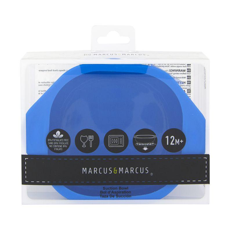 Tigela em Silicone com Ventosa Azul - Marcus e Marcus