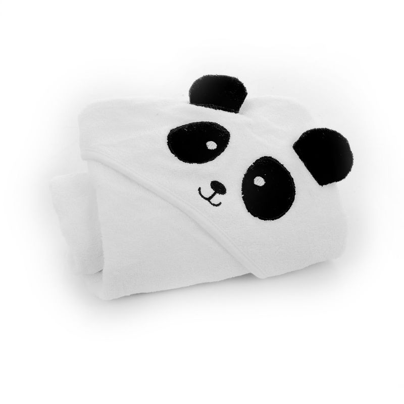 Toalha com Capuz Panda - Infanti