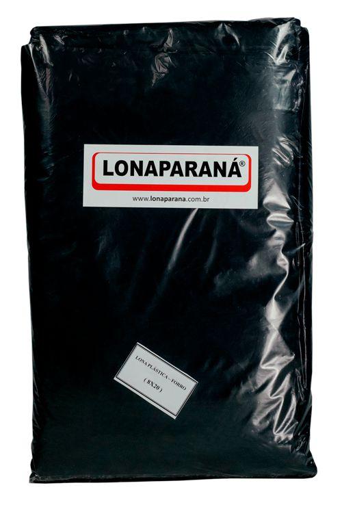 LONA PLÁSTICA CORTADA - PRETA 20mX4m / 80 m2 - CAIXA COM 8 UN.