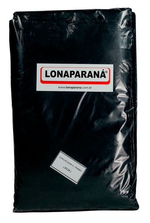 LONA PLÁSTICA PRETA 8X100 / 60 KG