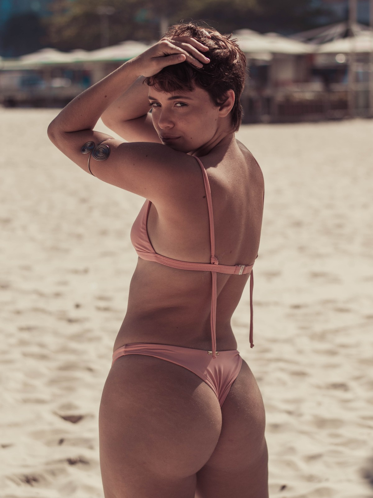 Biquíni Top Fixo + Asa Delta Nude Rosé Fio Duplo Confort Premium