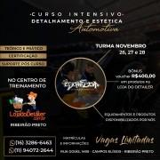"""CURSO INTENSIVO """"DETALHAMENTO E ESTÉTICA AUTOMOTIVA"""" - RIBEIRÃO PRETO"""