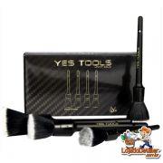 Pincel Premium para Detalhamento Automotivo - 4pçs - Yes Tools
