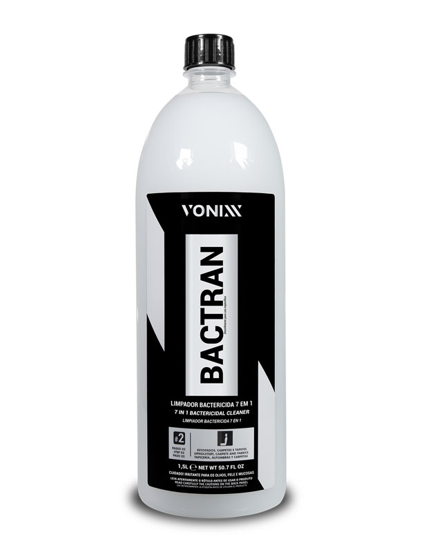 Bactran Concentrado - Limpador Bactericida Estofados e Carpetes - VSC 2 - 1,5L - Vonixx