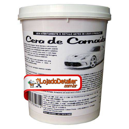 Cera De Carnaúba Para Plásticos Cadillac - 900g