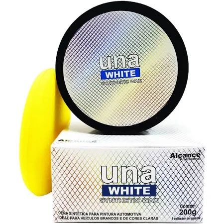 Cera Premium Una White Synthetic Wax - 200g - Alcance