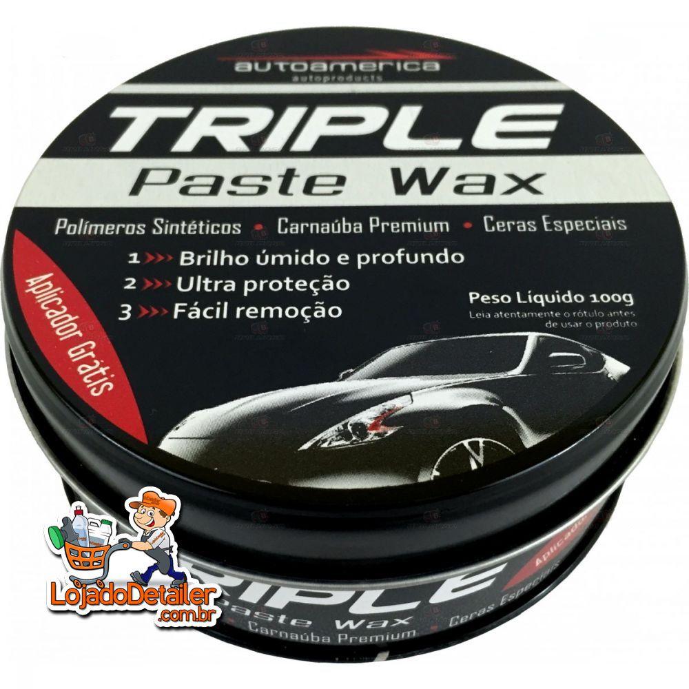Cera Triple Paste Wax - Cera de Carnaúba - 100g - Autoamerica