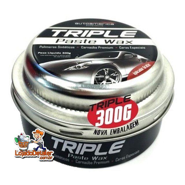 Cera Triple Paste Wax - Cera de Carnaúba - 300gr - Autoamerica