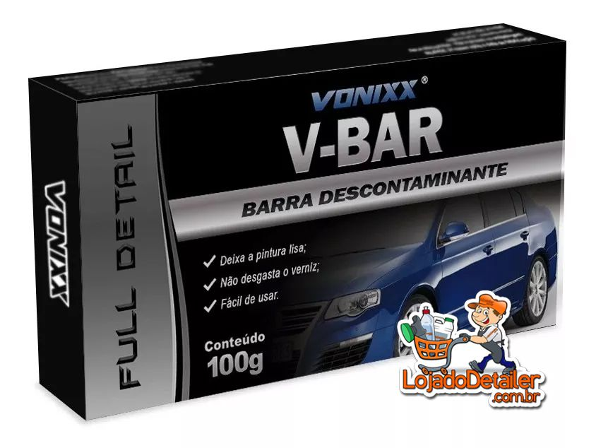 Clay Bar V-Bar – Barra descontaminante - 100g - Vonixx