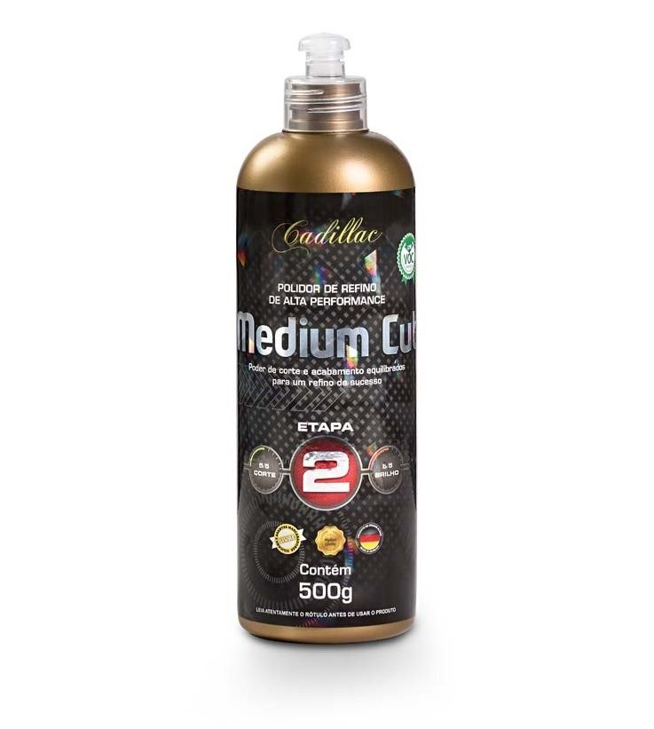 Composto Polidor Medium Cut - Cadillac - 500gr