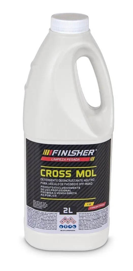 Cross Mol - Detergente Desincrustante Neutro - 2L - Finisher
