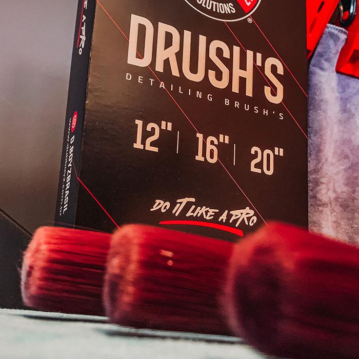D'rush Exterior – Kit de pincéis para detalhamento - Dub Boyz