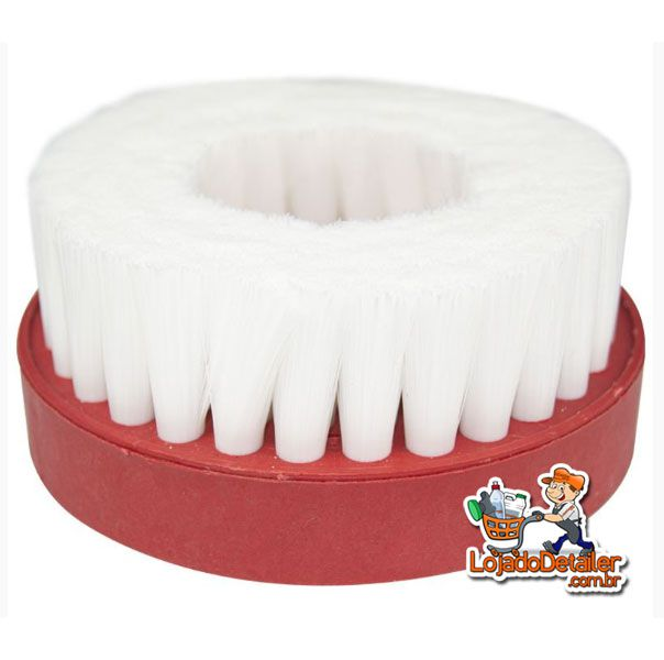 Escova de Limpeza Branca Macia para Politriz com Rosca 5/8 - Kers
