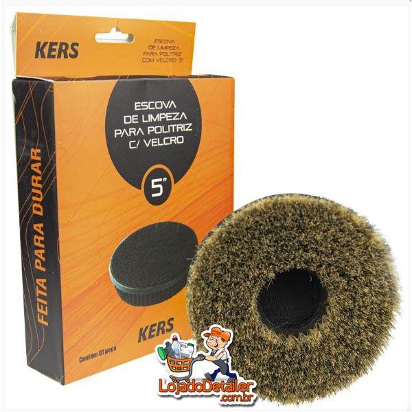 """Escova de Limpeza para Politriz com Velcro de 5"""" - Kers"""