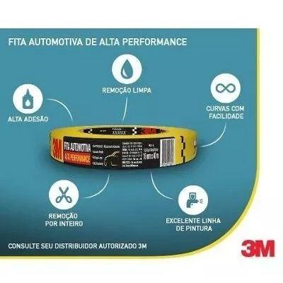 Fita Crepe Alta Performance Amarela - 3M