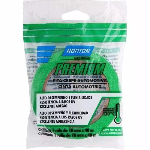 Fita Crepe Automotiva 18x40mm Premium Verde Norton