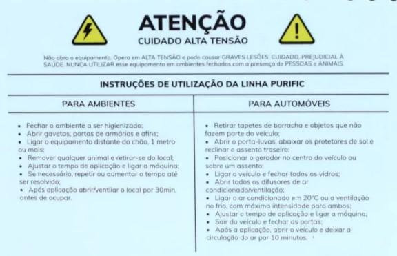 Gerador de Ozônio Purific - 10G/H (BIVOLT) - Wier
