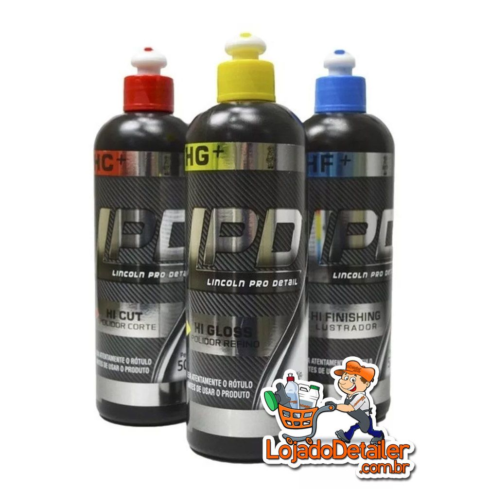 Kit Polimento - Linha LPD Lincoln - Corte, Refino, Lustro - 500gr