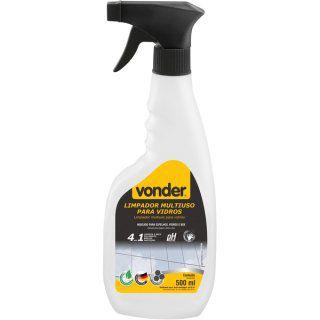Limpador multiuso para vidros, tipo pulverizador, 4 em 1, biodegradável, 500 ml, VONDER