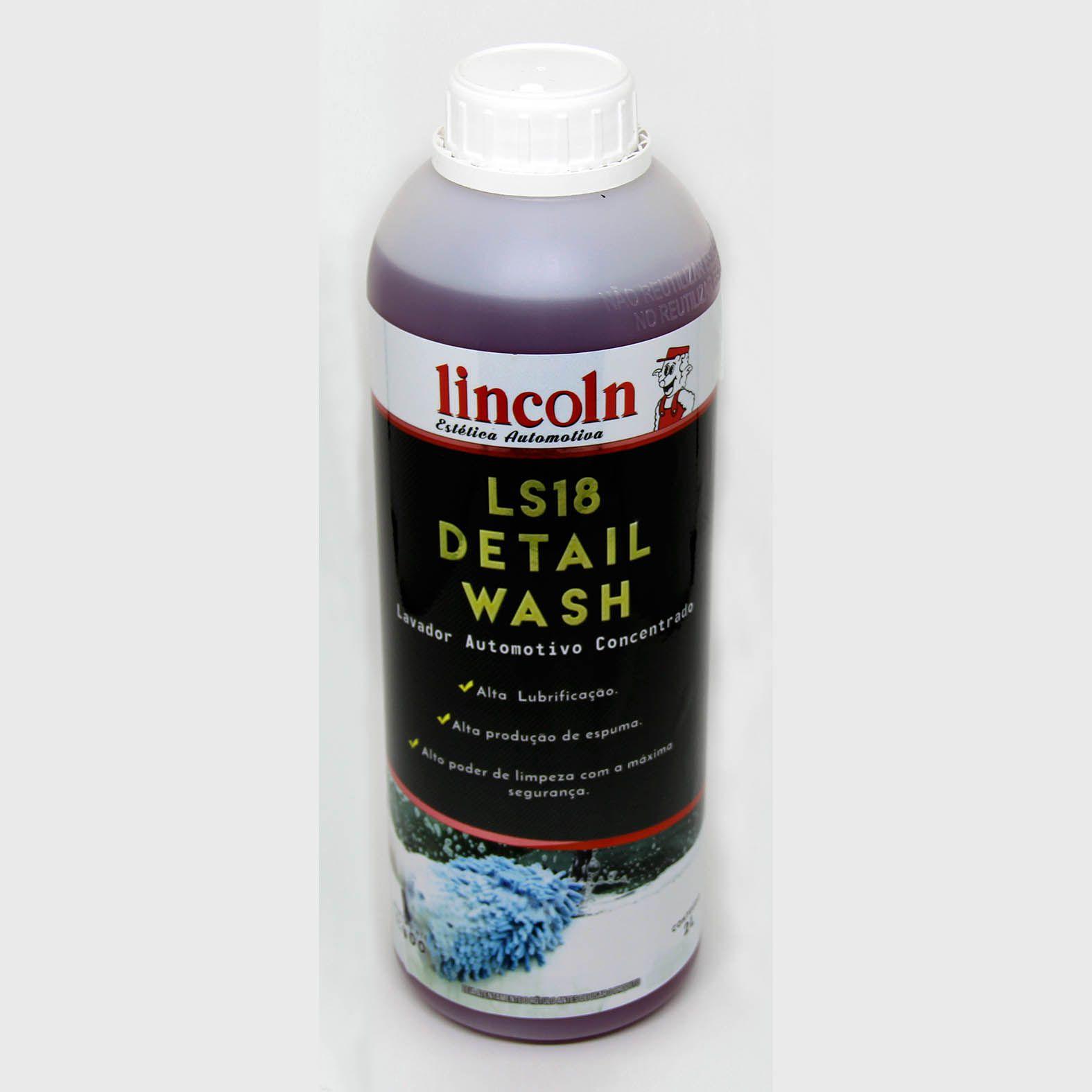 LS18 Detail Wash - Shampoo Automotivo Concentrado - 2L - Lincoln