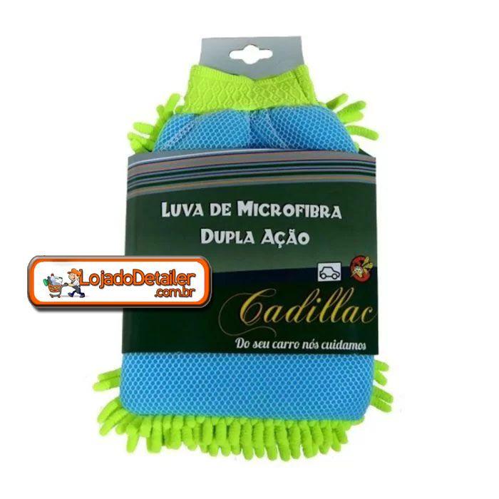 Luva de MicroFibra Dupla Ação - Lavagem e Remoção de Insetos - Cadillac