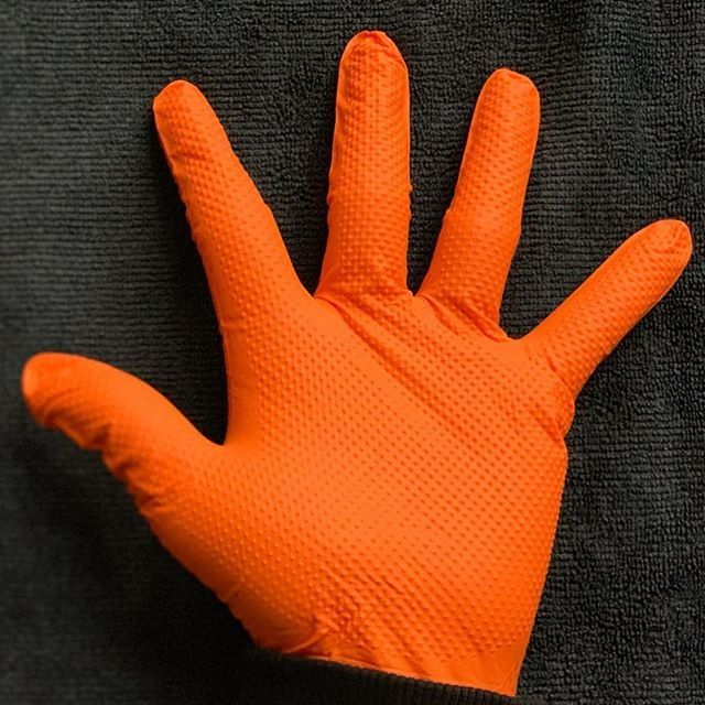 Luva Nitrílica Orange Ignite C/ 100 Un. - Tamanho G