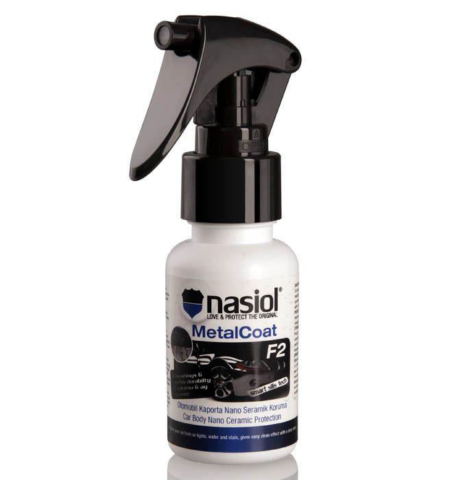 MetalCoat: NASIOL MetalCoat F2 – Nano proteção para Pintura, Metais, Plásticos e Lanternas. – 50ml