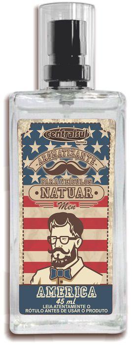Natuar Men América - Aromatizante Spray 45ml - CentralSul