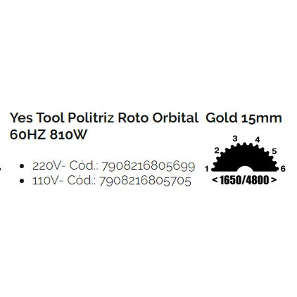 Politriz Roto Orbital K15 Gold 60HZ 810W - Yes Tool Kers - 220V
