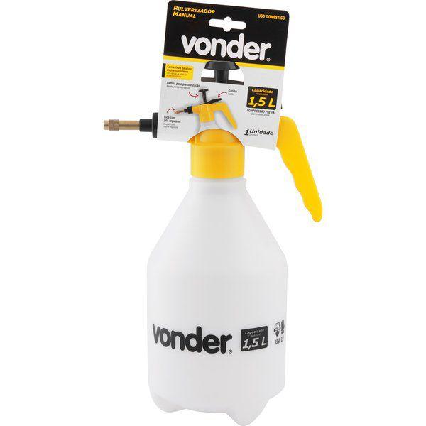 Borrifador Pulverizador 1,5 litros, com compressão prévia, VONDER