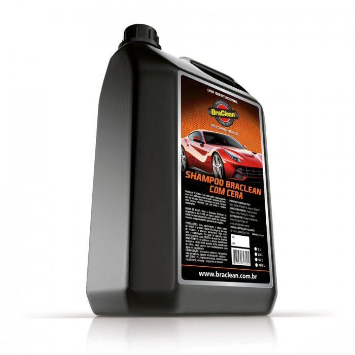 Shampoo com Cera de Carnaúba Automotivo 5L - Braclean