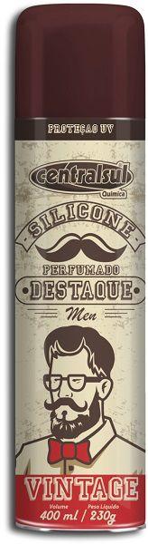 Silicone Aerossol Men Vintage - CentralSul - 400ml