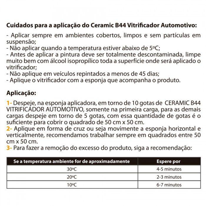 Vitrificador Automotivo Ceramic B44 - Braclean