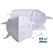 20 Mascara Respiratória Hospitalar PFF2 N95 INMETRO ANVISA GVS