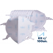Kit 100 Mascara Respiratória Hospitalar PFF2 N95 Com ANVISA GVS