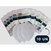 Kit 10 Mascara Respiratória Hospitalar PFF2 N95 Com ANVISA