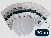 20 Mascara Respiratória Hospitalar PFF2 N95 INMETRO ANVISA