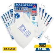 Kit com 20 Máscaras PFF2-S Air Safety Branca - Equivalente N95