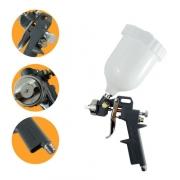 Kit Pistola de Pintura Hvlp C/ 3 Bicos e Copo 600ml
