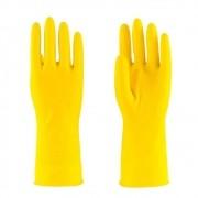 Luva de Latex Amarela House Hold Ambidestra Super Safety